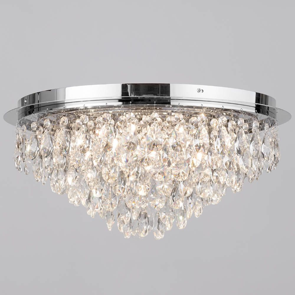 Flush Ceiling Light Crystal 6 Light Chrome From Litecraft