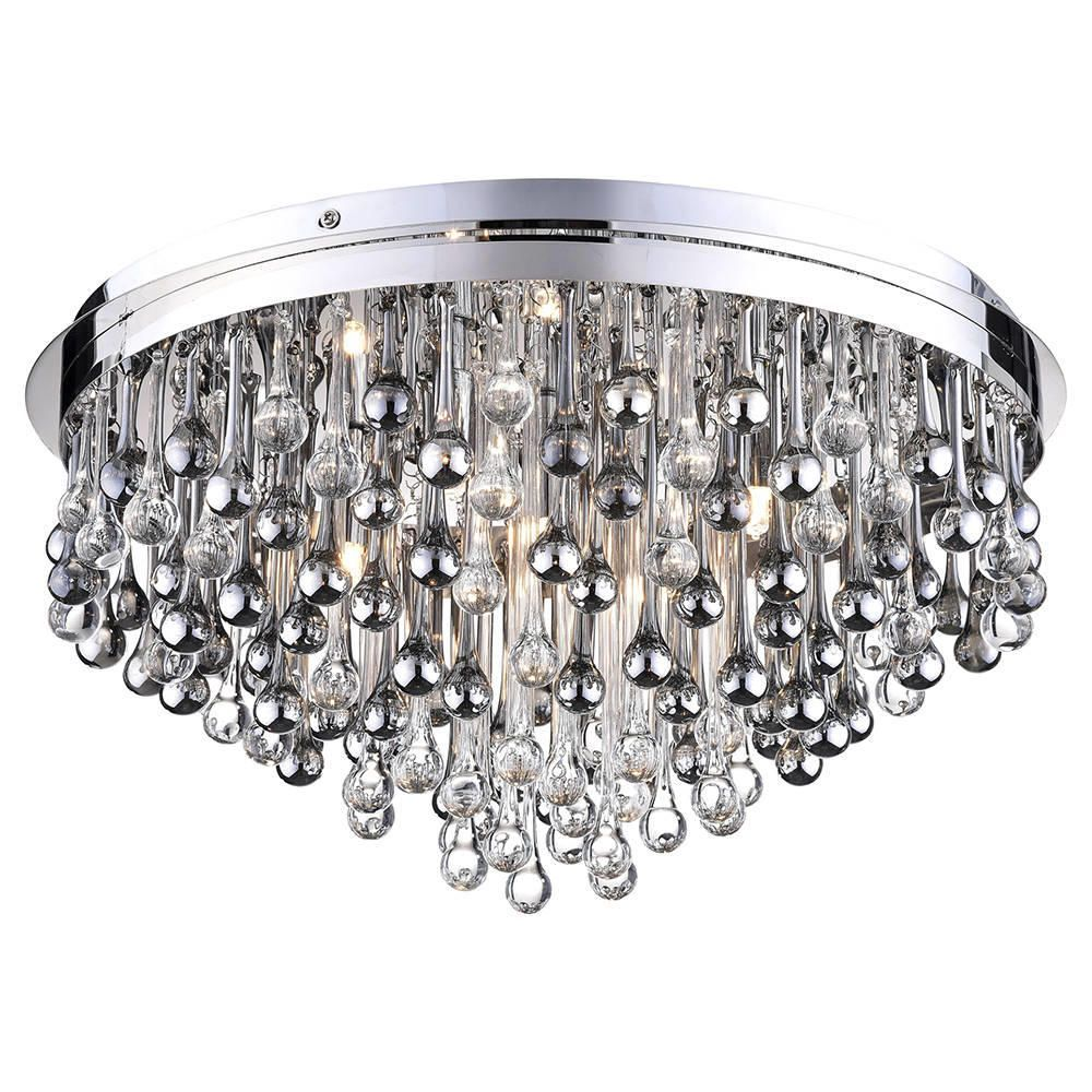 Teardrop crystal flush ceiling light chrome from litecraft teardrop crystal flush ceiling light chrome free delivery mozeypictures Choice Image
