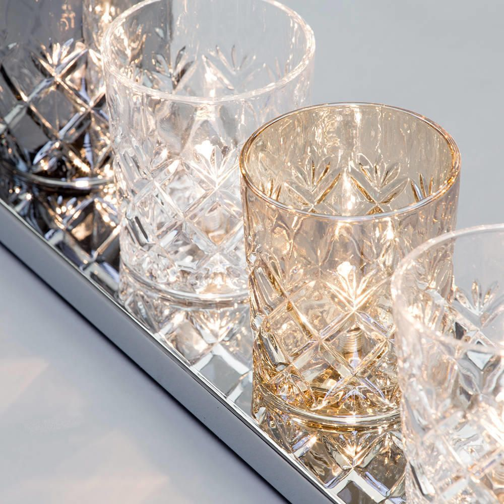 Glass Table Lamp Gatsby Crystal Tumbler 7 Light Chrome
