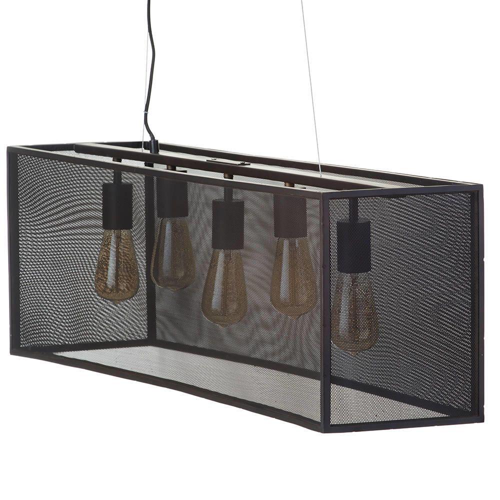 5 Light Industrial Diner Mesh Bar Ceiling Pendant