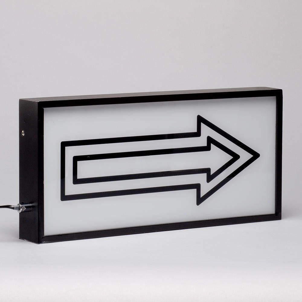 Wall Hung Light Box : Arrow Wall Light Box with Black Frame - Black from Litecraft