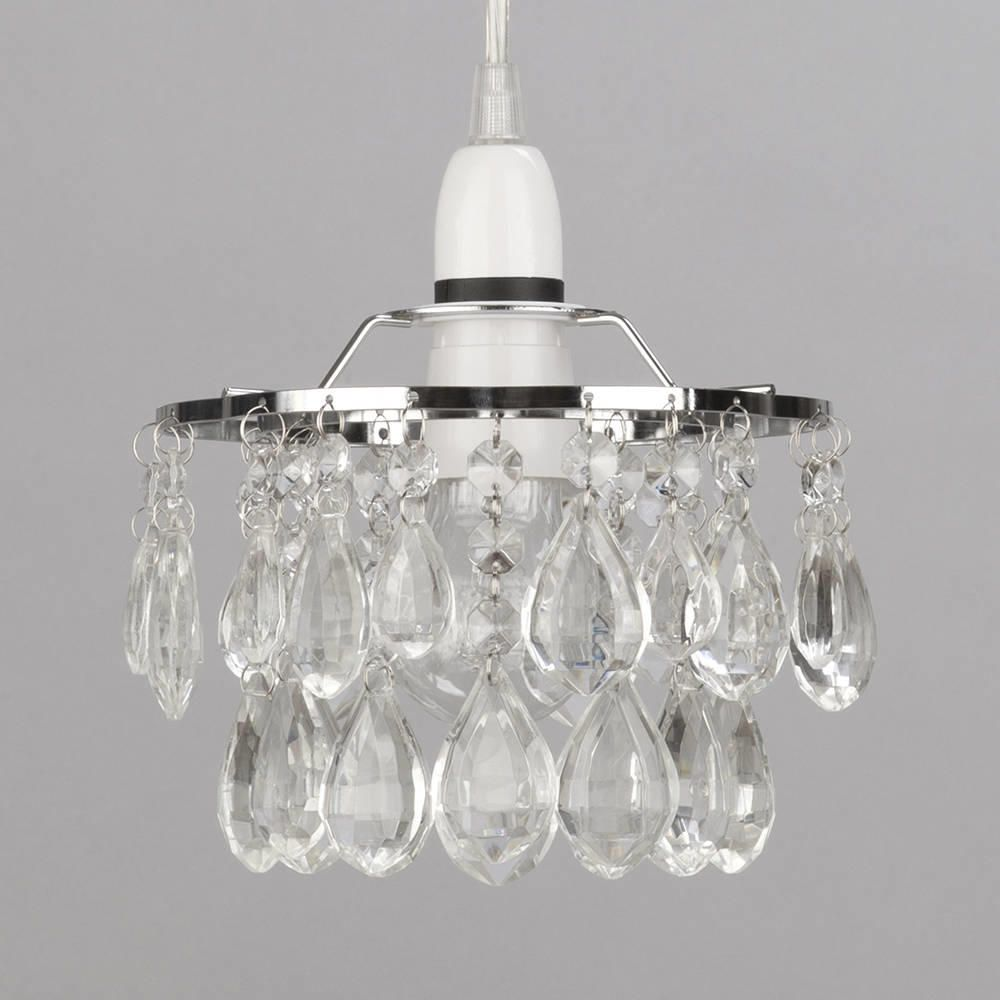 Easy To Fit Crystal Effect Droplet Ceiling Shade