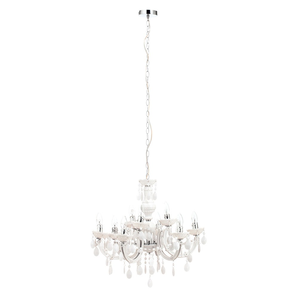 Marie Therese 9 Light Dual Mount Chandelier with LED Bulbs White