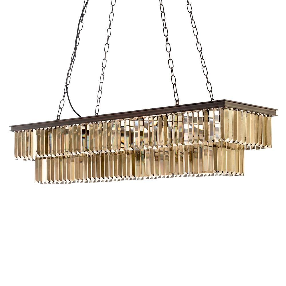 Cool Ingot 9 Light Rectangular Crystal Prism Bar Rust Ceiling Pendant Download Free Architecture Designs Lectubocepmadebymaigaardcom