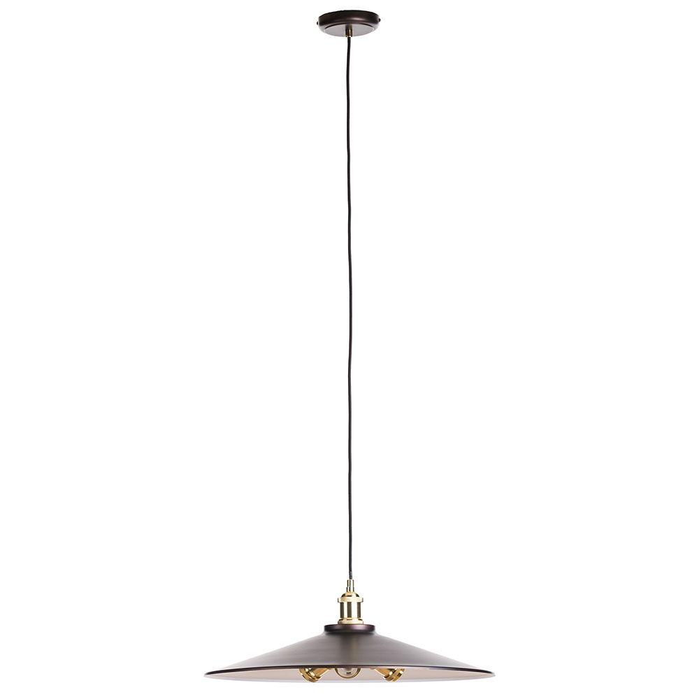 Industrial Ceiling Pendant Light Brass Retro Style Dish