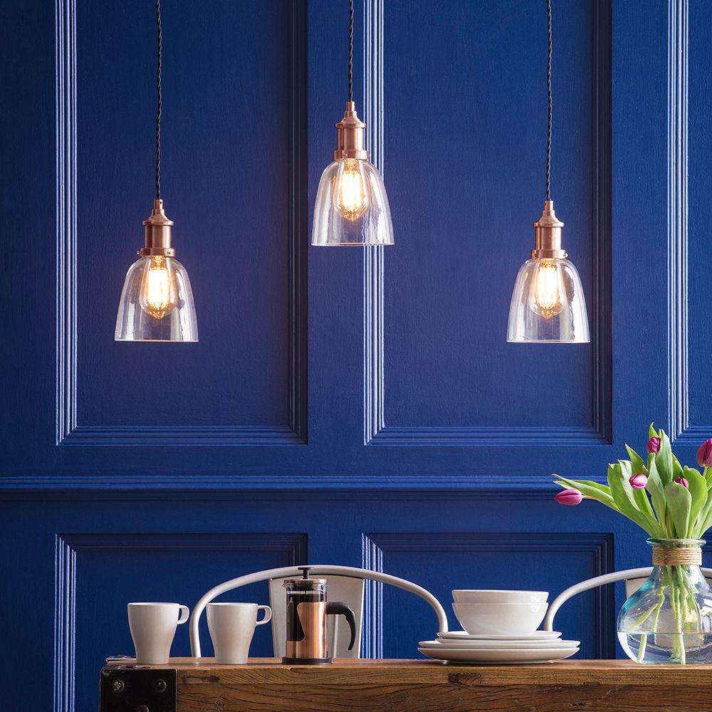Leonlite 3 Pack Industrial Pendant Lighting For Kitchen: Industrial 3 Light Diner Style Ceiling Pendant