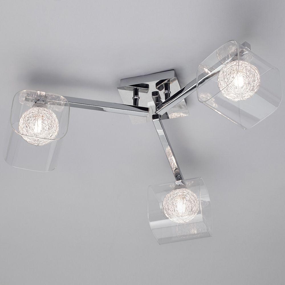 Semi flush ceiling light chrome globe verona with glass shades 3 3 light glass and chrome ceiling flush light mozeypictures Images
