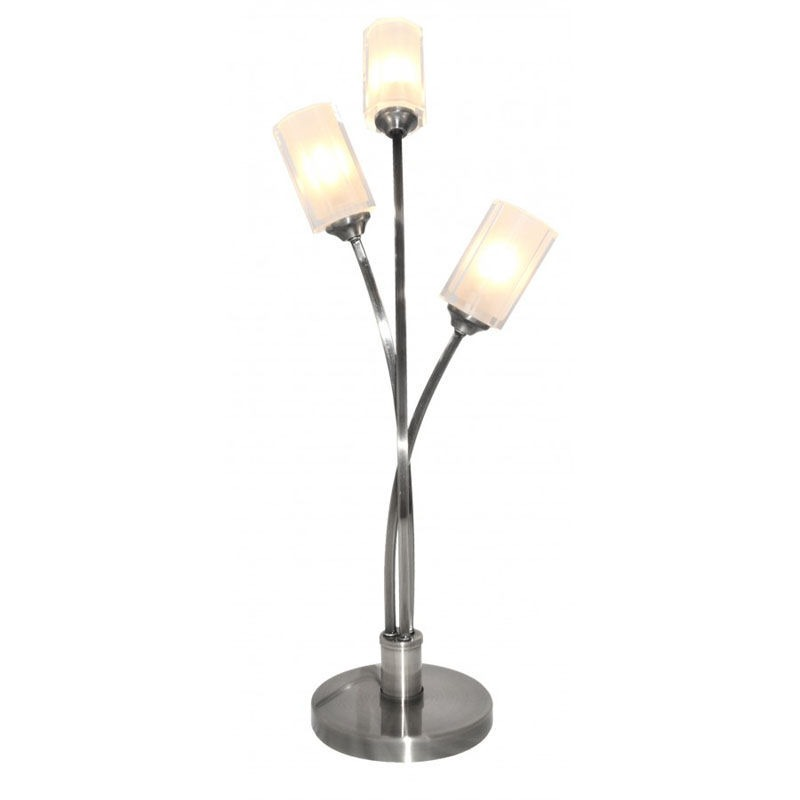 Octi 3 Light Table Lamp Chrome From Litecraft