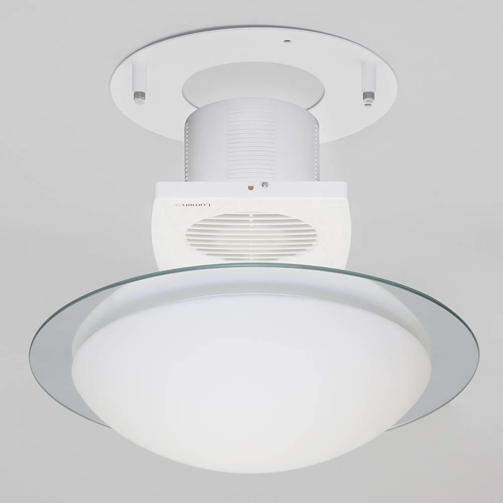 Flush Ip44 Rated Glass Bathroom Ceiling Lighting With Extractor Fan Litecraft Ebay