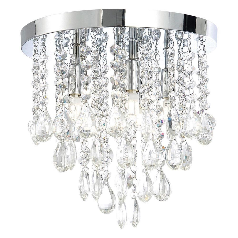 Flush ceiling light crystal droplet plate with extractor fan 4 free delivery arubaitofo Choice Image
