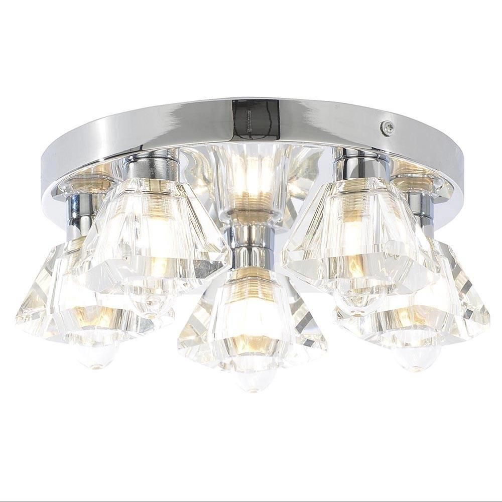 5 light bathroom ceiling spotlight w extractor fan chrome fastfree delivery aloadofball Choice Image