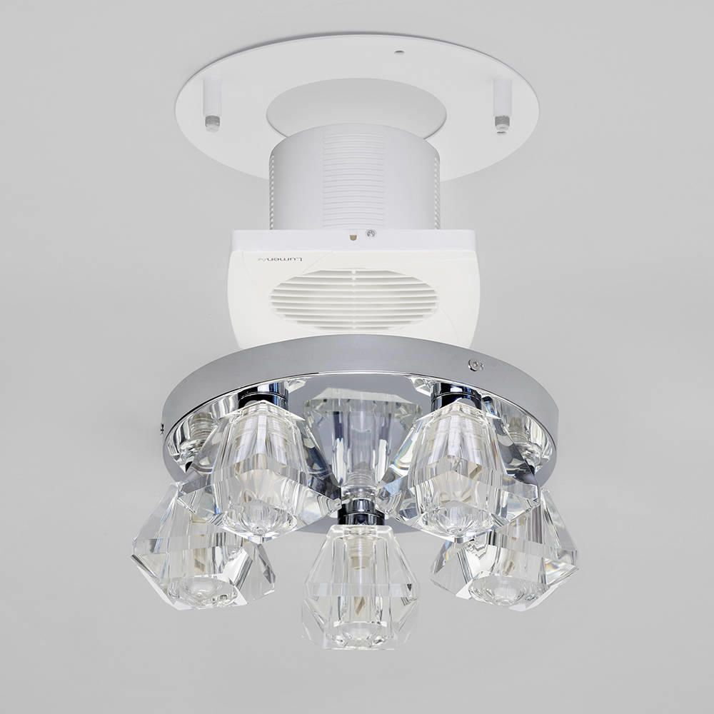 Bathroom ceiling light with extractor fan : Light bathroom ceiling spotlight w extractor fan chrome