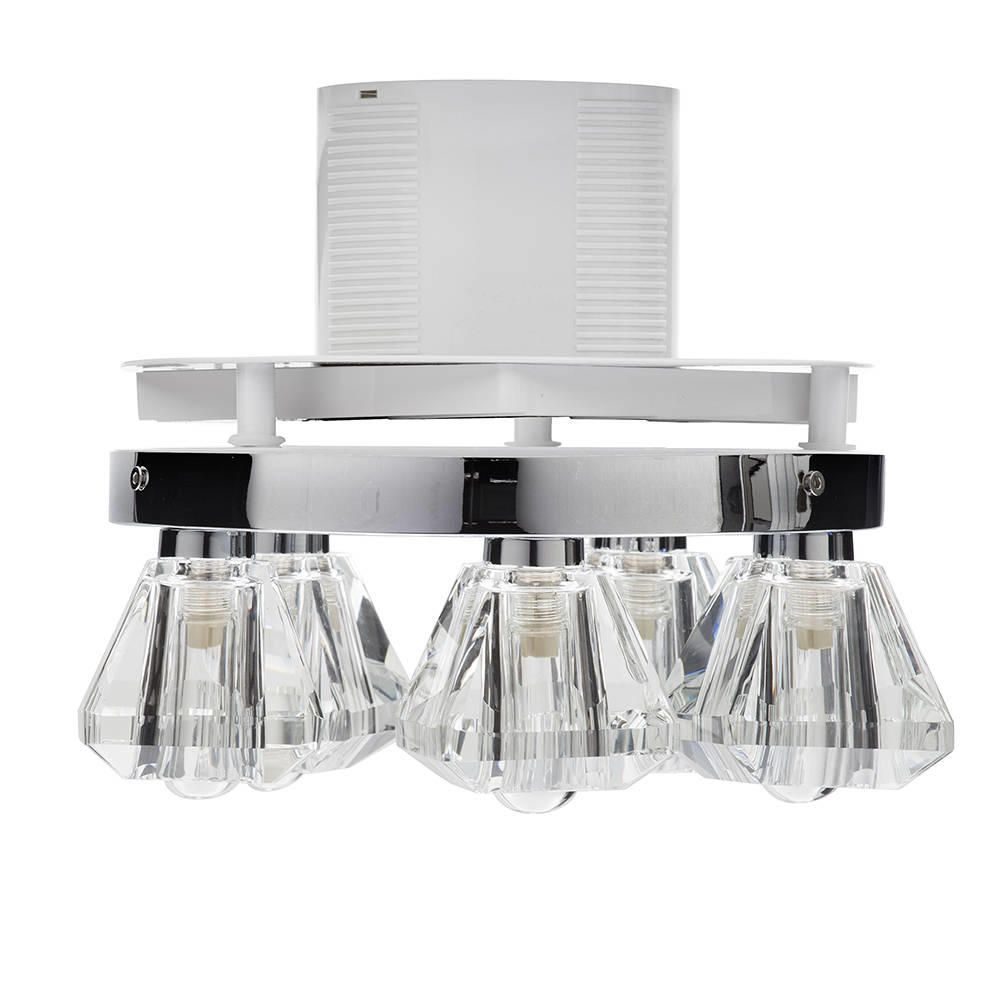 5 light bathroom ceiling spotlight w extractor fan chrome fixture with integrated extractor fan arubaitofo Choice Image