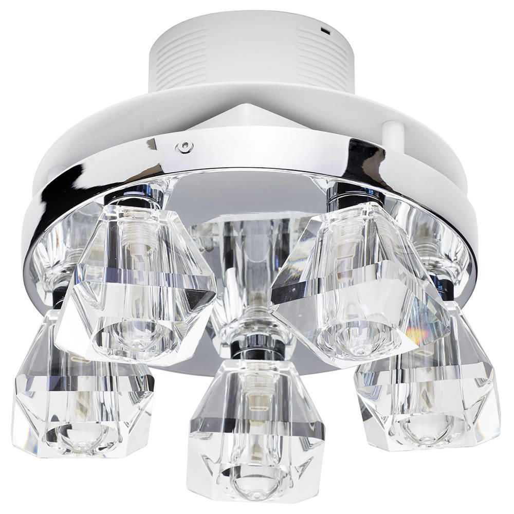 5 light bathroom ceiling spotlight w extractor fan chrome fastfree delivery arubaitofo Choice Image