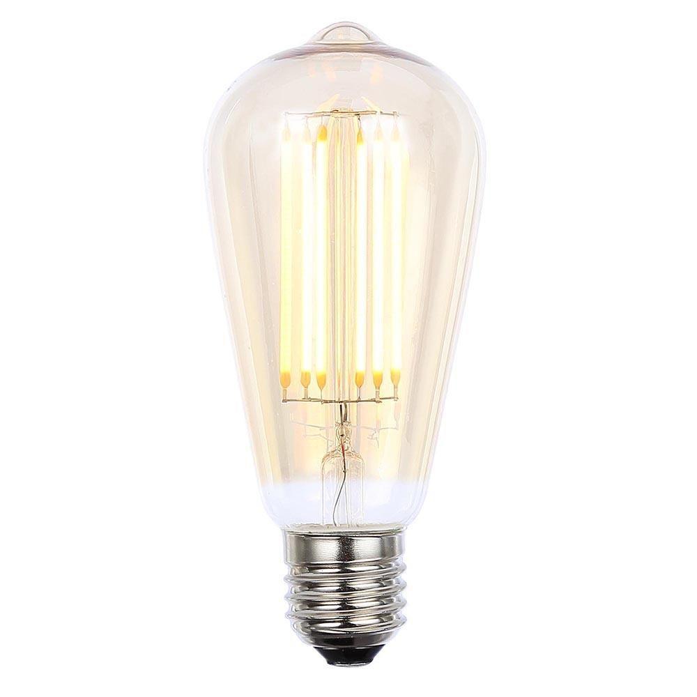 vintage filament 6 watt teardrop led e27 edison screw light bulb gold tint from litecraft. Black Bedroom Furniture Sets. Home Design Ideas