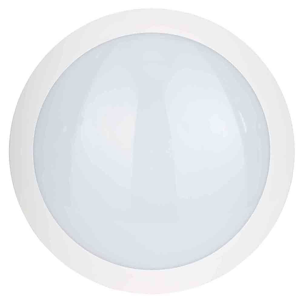 Litecraft Stanley Como IP66 Outdoor LED Flush Ceiling or Wall Light with Sensor - White