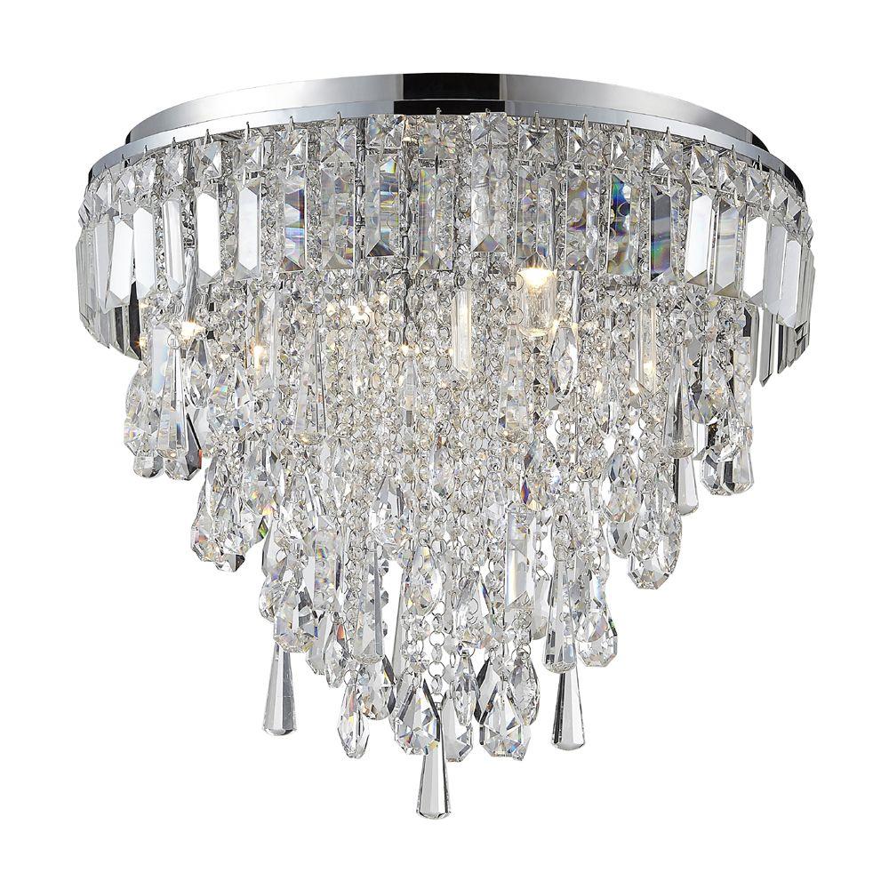 Lighting Light Bulbs Marquis by Waterford - Bresna LED 6 Light Bathroom Flush Ceiling Light - Chrome