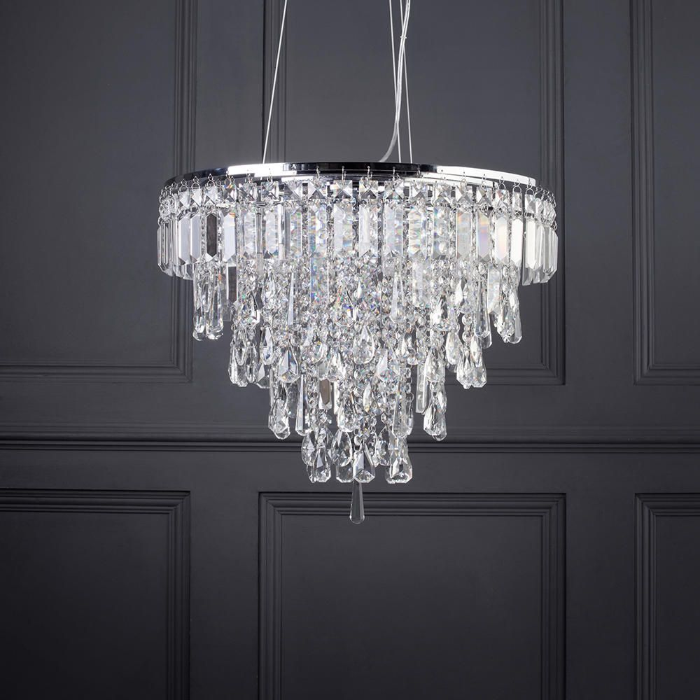 Marquis By Waterford Bresna Led 6 Light Bathroom Ceiling