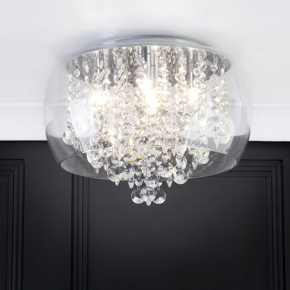 Marquis by waterford nore led small encased flush bathroom ceiling bathroom ceiling bowl semi flush lighting mozeypictures Choice Image