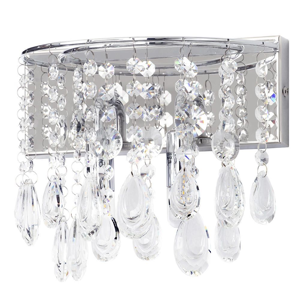 Marquis by waterford liffey led bathroom wall light chrome fastfree delivery arubaitofo Gallery