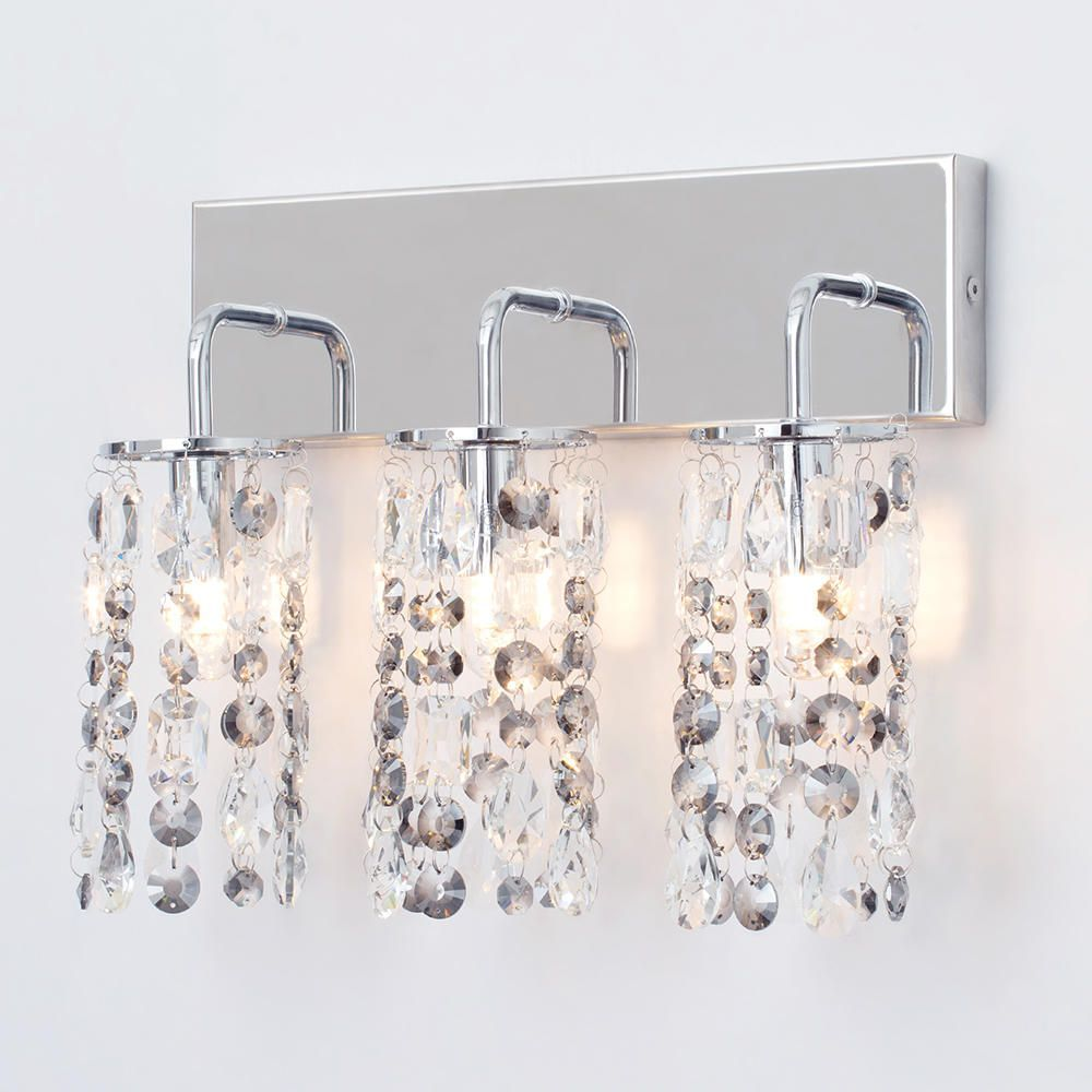 Marquis by Waterford - Lagan LED 3 Light Bathroom Wall Light - Chrome From Litecraft