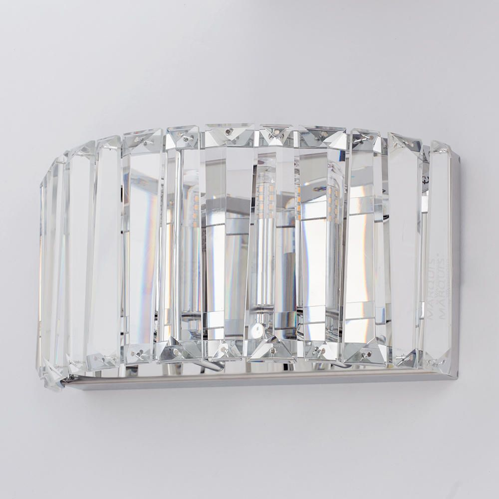 Chrome Kitchen Wall Lights : Marquis by Waterford - Foyle LED Bathroom Wall Light - Chrome From Litecraft