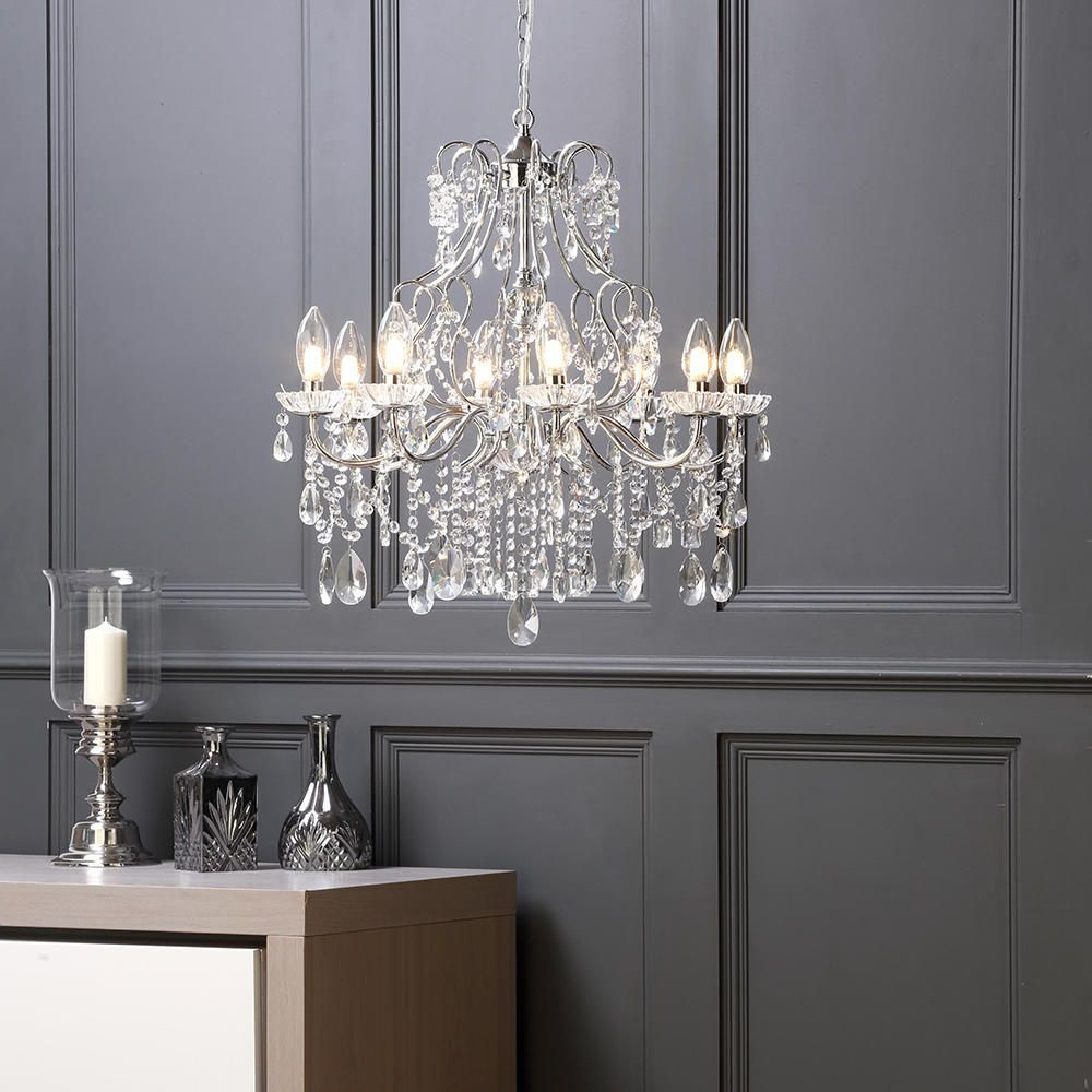 Marquis by waterford annalee led 8 light bathroom chandelier bathroom chandielier litecraft waterford side table light elegant arubaitofo Gallery