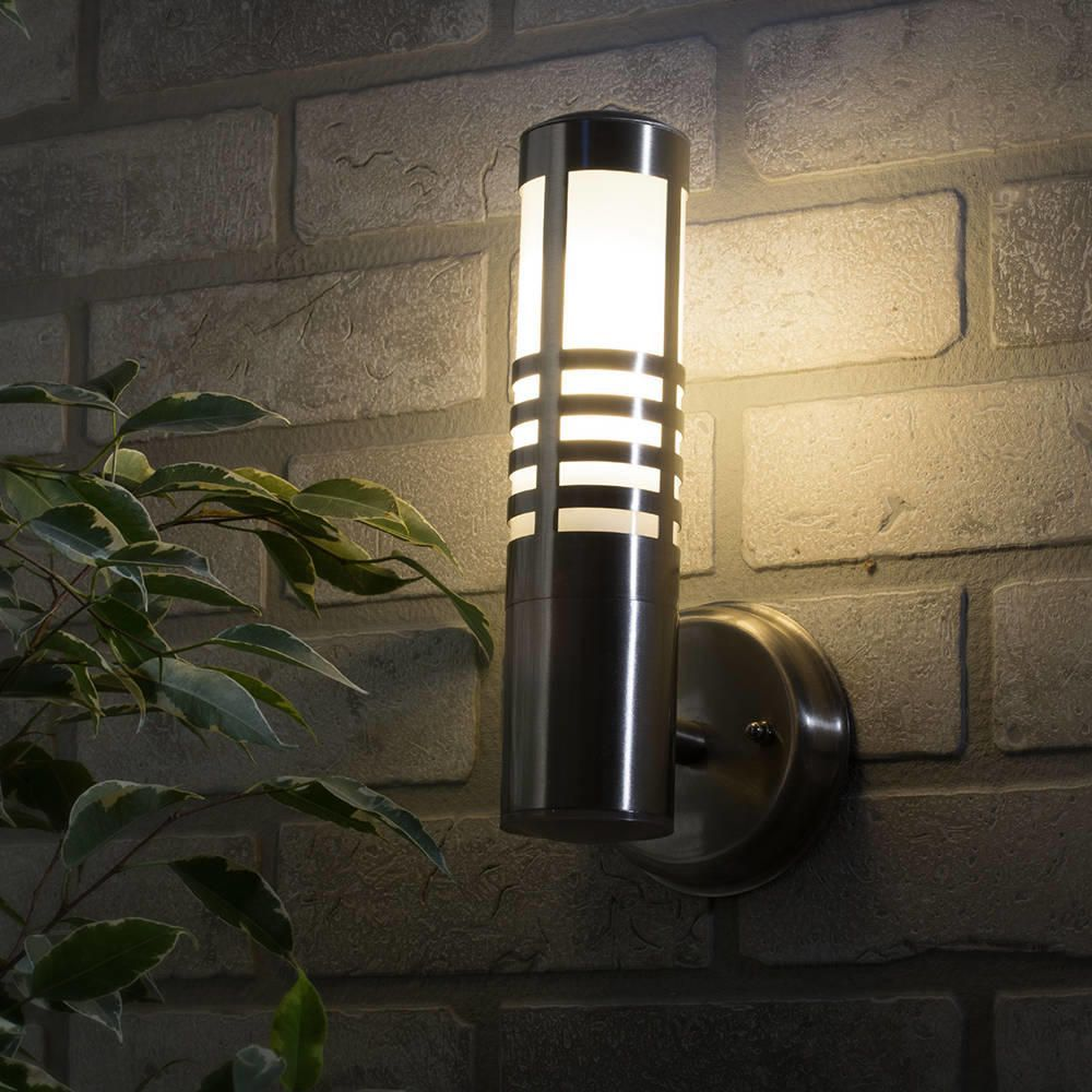 Delph Outdoor Slatted Wall Light - Stainless Steel from Litecraft