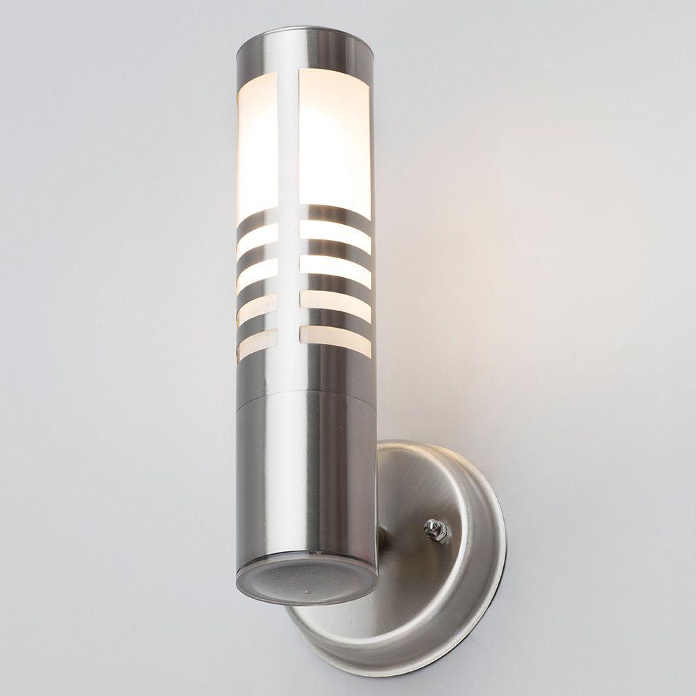 Wall Lights Litecraft : Delph Outdoor Slatted Wall Light - Stainless Steel from Litecraft