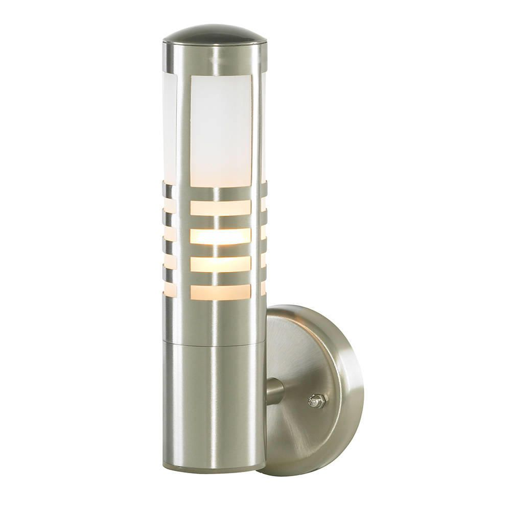 Litecraft Outdoor Wall Lights : Delph Outdoor Slatted Wall Light - Stainless Steel from Litecraft