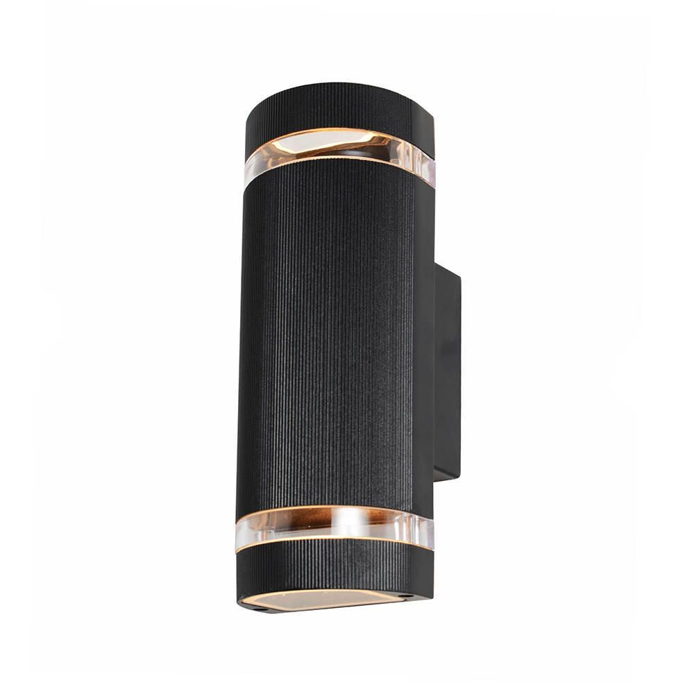 Litecraft Outdoor Wall Lights : Holme Large Up & Down Black Outdoor Wall Light - From Litecraft