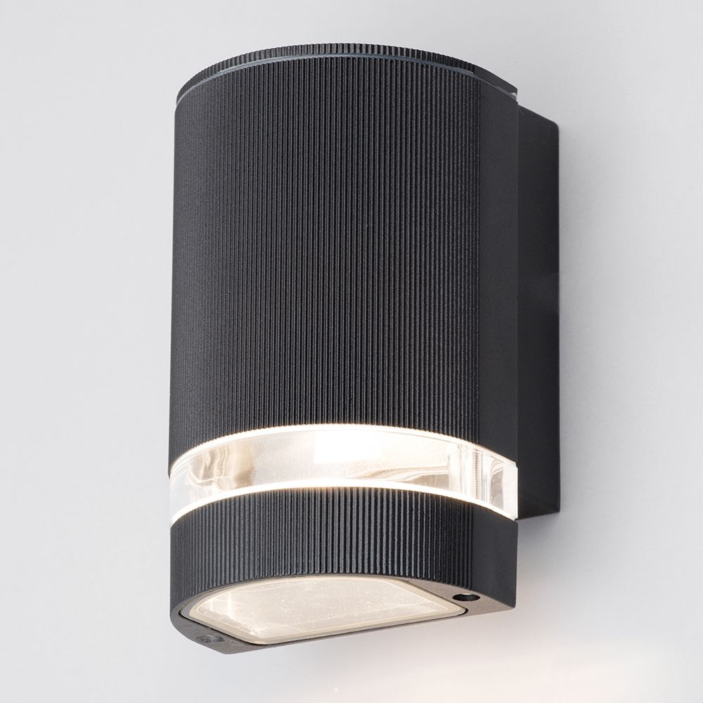 Holme Small Up Or Down Light Outdoor Wall Light Black