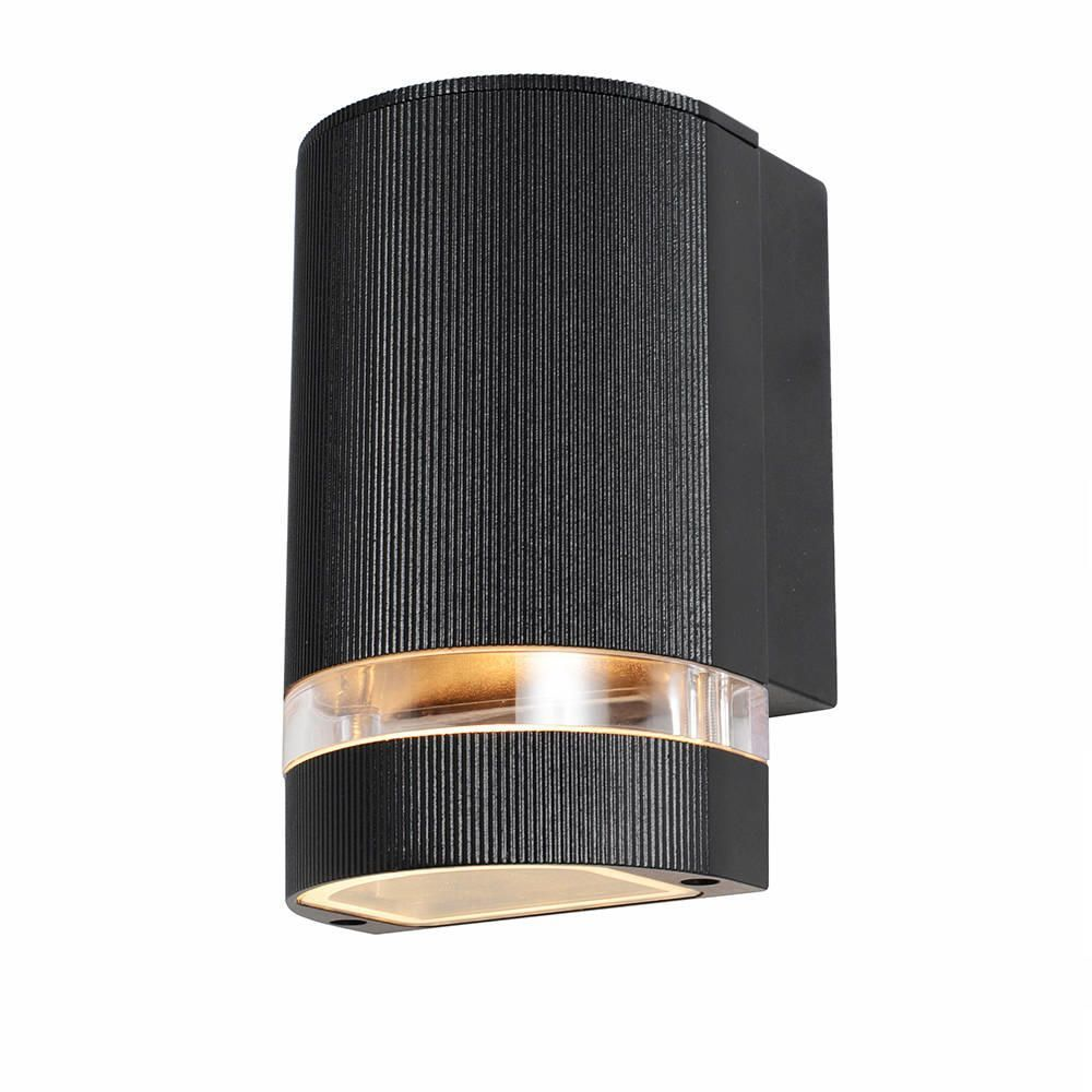 Gardenia Wall Lights : Holme Small Up or Down Light Outdoor Wall Light - Black from Litecraft