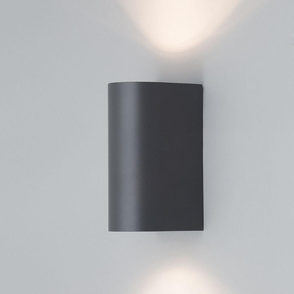 Anthracite Garden Wall Lights : Irwell Up & Down Light Outdoor Wall Light - Black from Litecraft