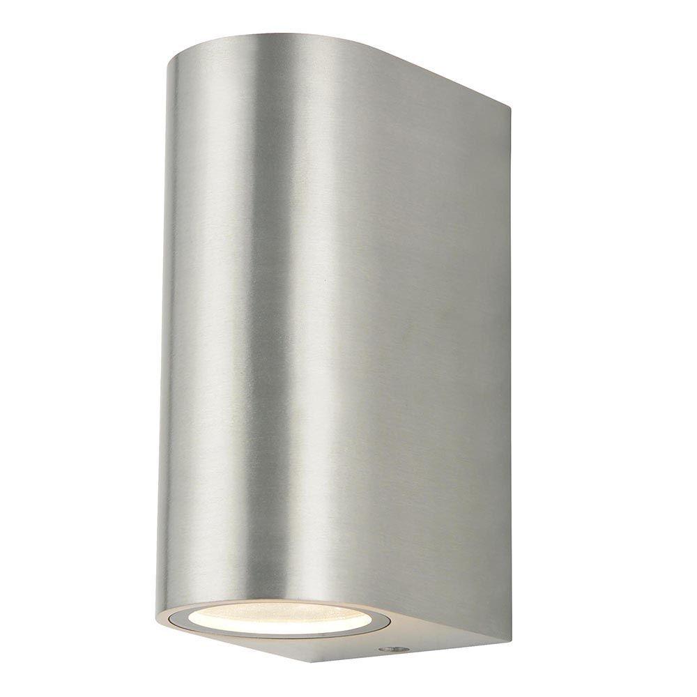 Litecraft Outdoor Wall Lights : Irwell 2 Light Up and Down Outdoor Wall Light - Stainless Steel From Litecraft