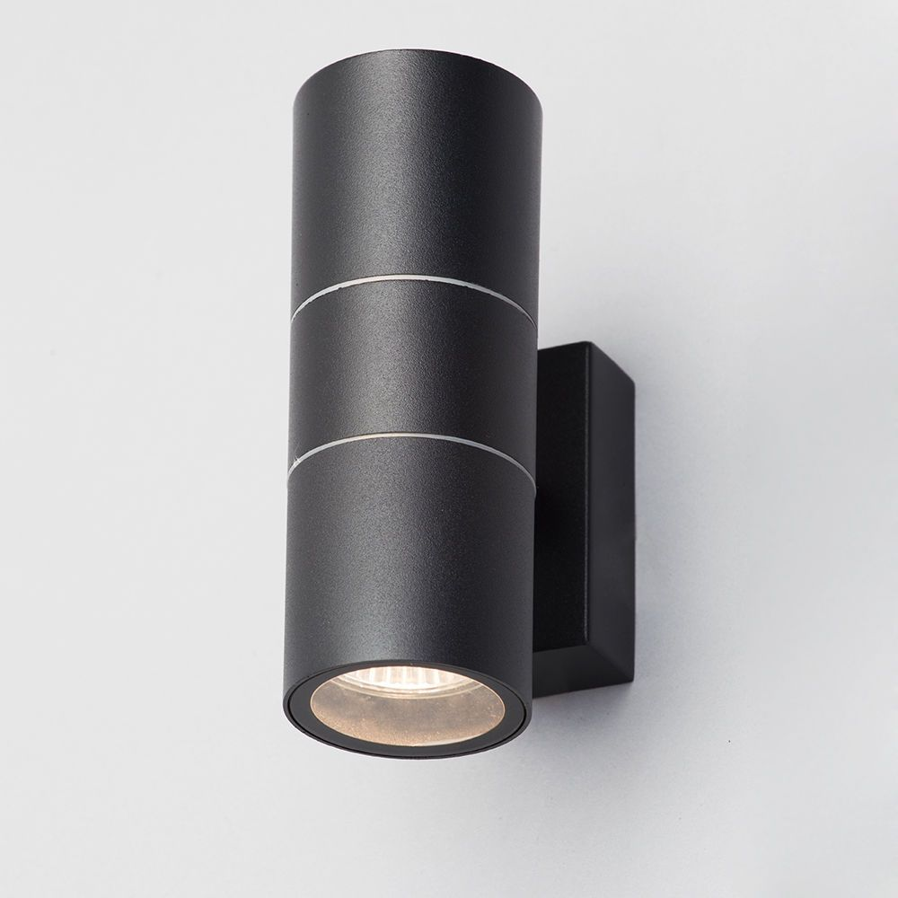 Litecraft Outdoor Wall Lights : Kenn Up & Down Light Outdoor Wall Light - Black from Litecraft
