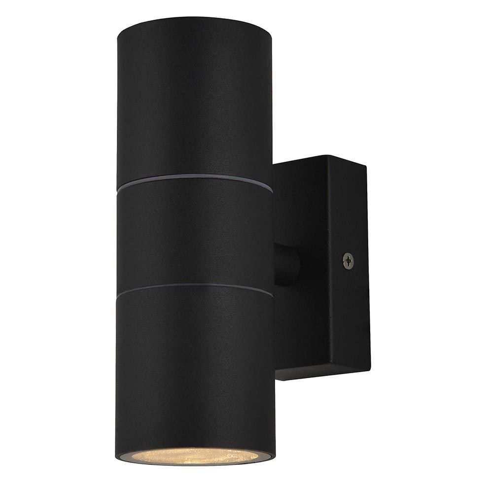 kenn 2 light up and down outdoor wall light black from litecraft. Black Bedroom Furniture Sets. Home Design Ideas