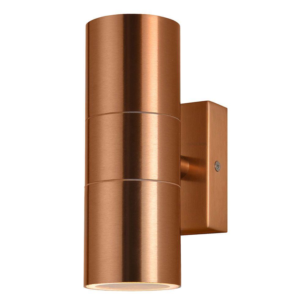 kenn up down light outdoor wall light copper from litecraft. Black Bedroom Furniture Sets. Home Design Ideas