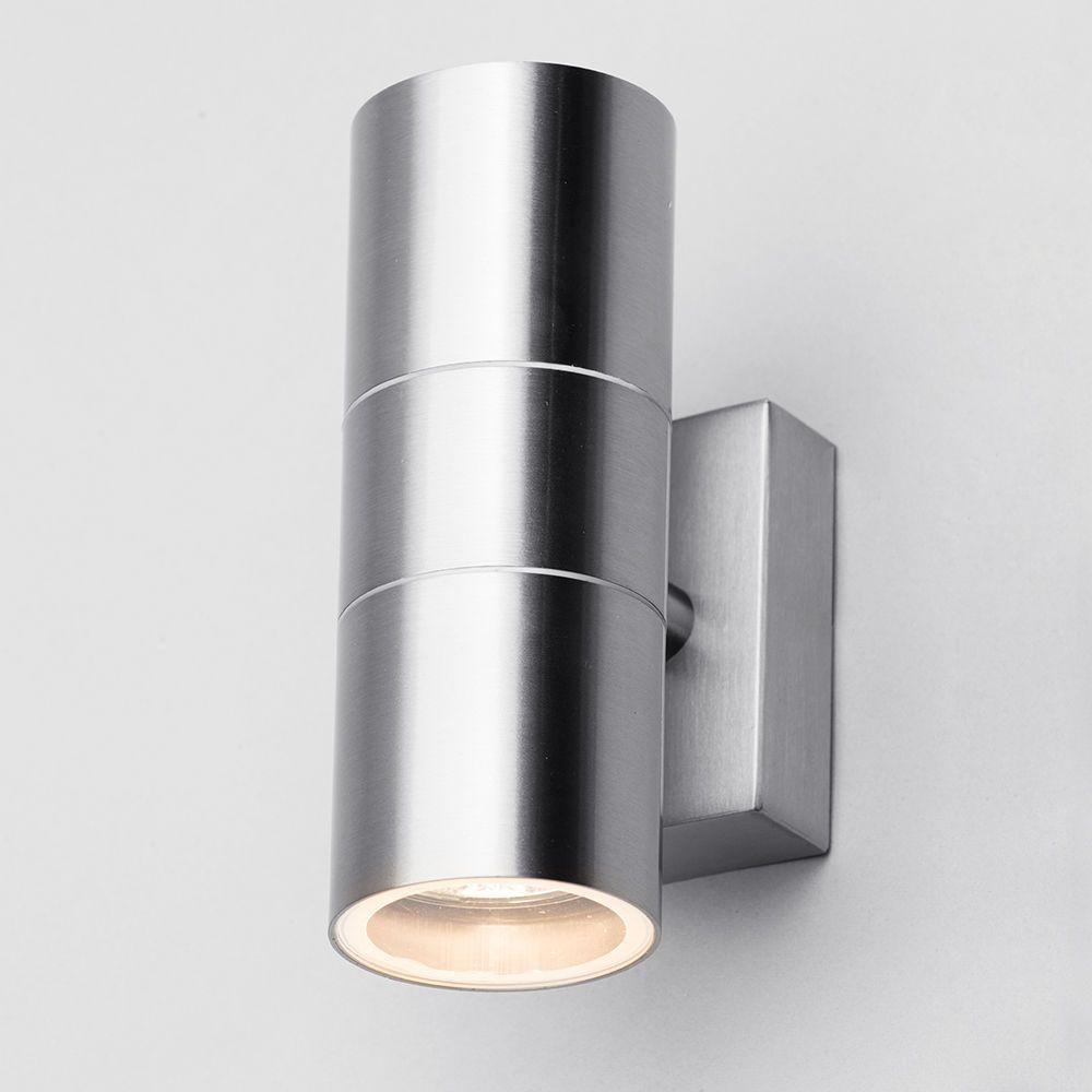 kenn up down light outdoor wall light satin chrome from litecraft. Black Bedroom Furniture Sets. Home Design Ideas