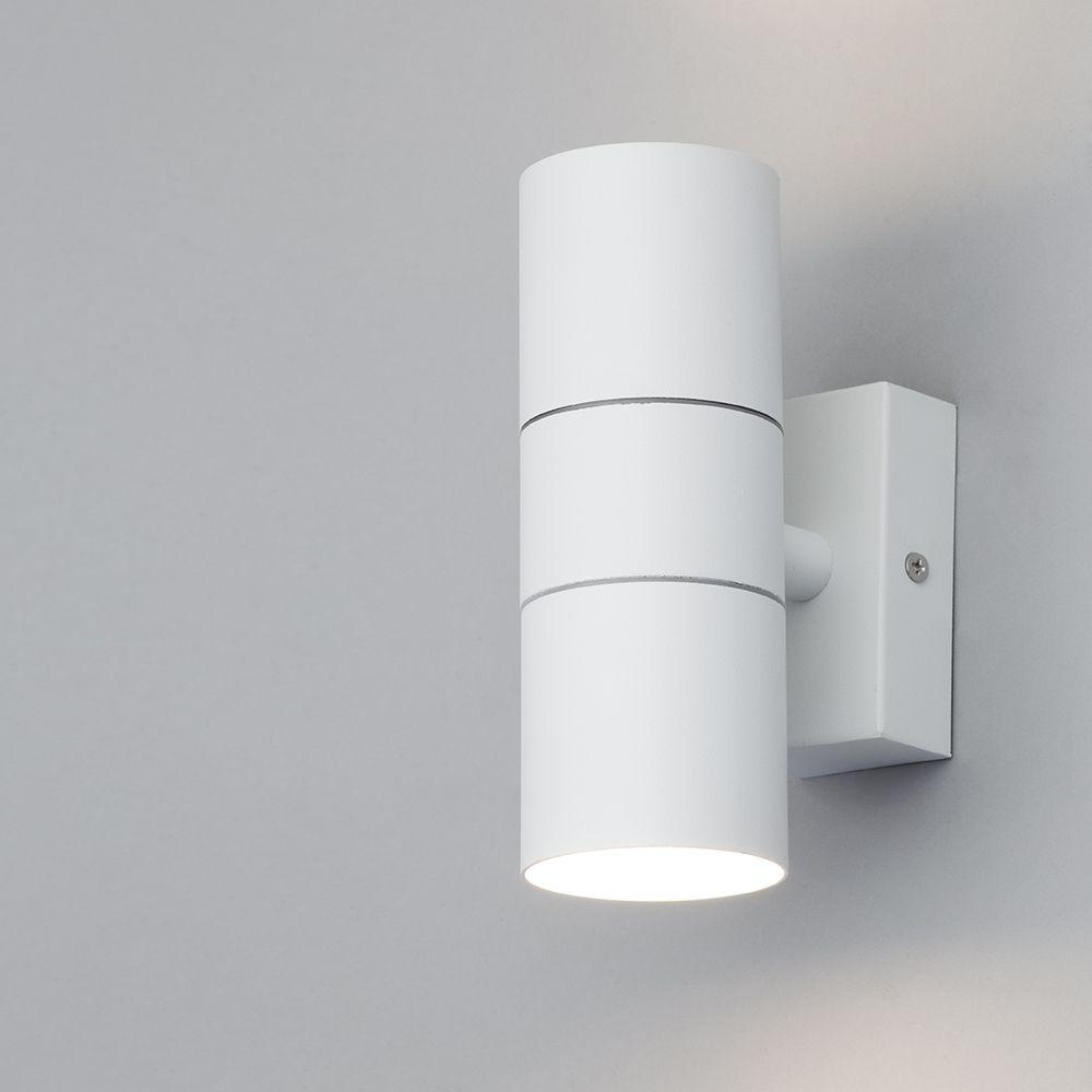 Wall Lights Litecraft : Kenn Up & Down Light Outdoor Wall Light - White from Litecraft