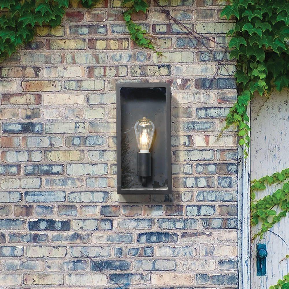 Outdoor Black Mersey Lantern Wall Light