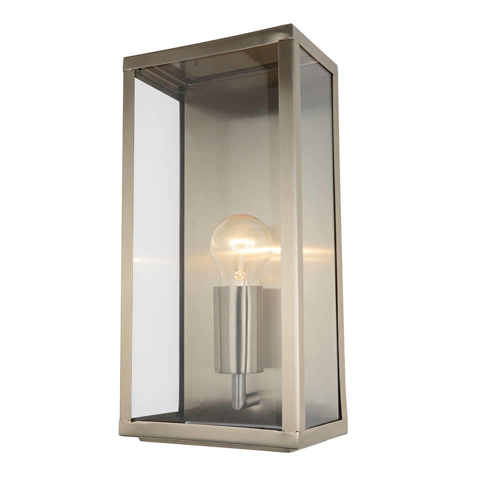 Modern garden outdoor ip44 rated wall lantern light stainless steel modern garden outdoor ip44 rated wall lantern light stainless steel litecraft mozeypictures Image collections