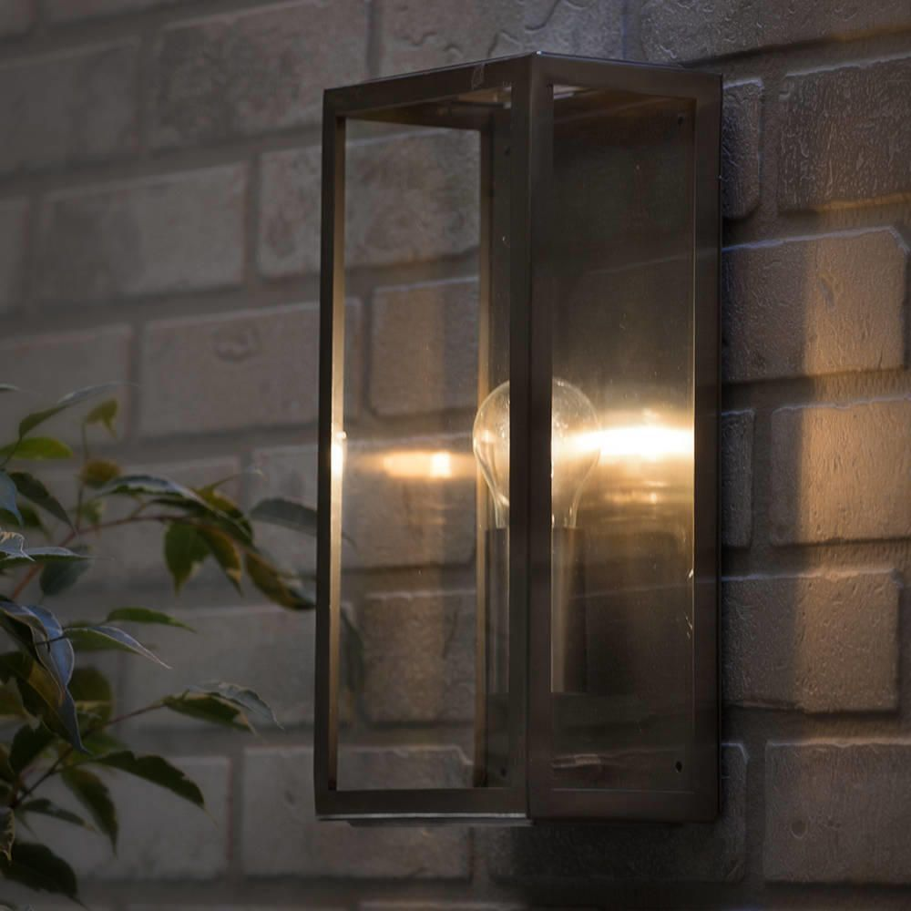 Mersey Outdoor Lantern Wall Light Stainless Steel From