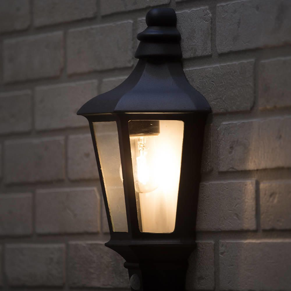 Litecraft Outdoor Wall Lights : Perry Outdoor PIR Half Lantern - Dark Grey from Litecraft