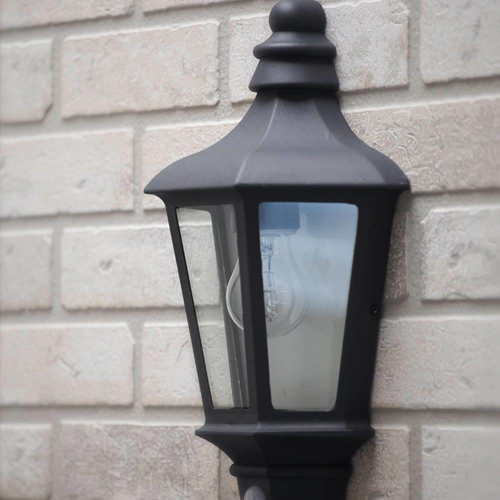 Litecraft 1 Light Outdoor Wall Half Lantern Garden Pir