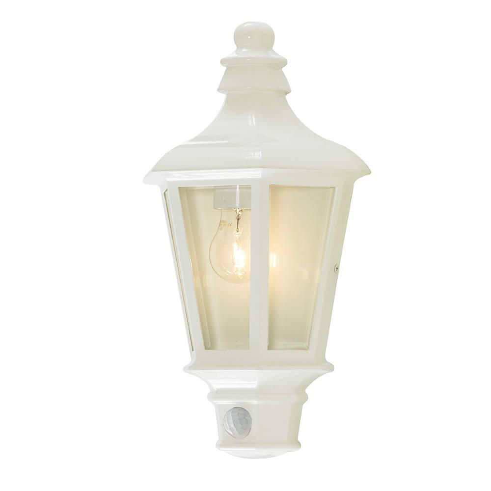 Outdoor Lighting Pir Perry outdoor pir half lantern white from litecraft perry outdoor pir half lantern white fastfree delivery workwithnaturefo
