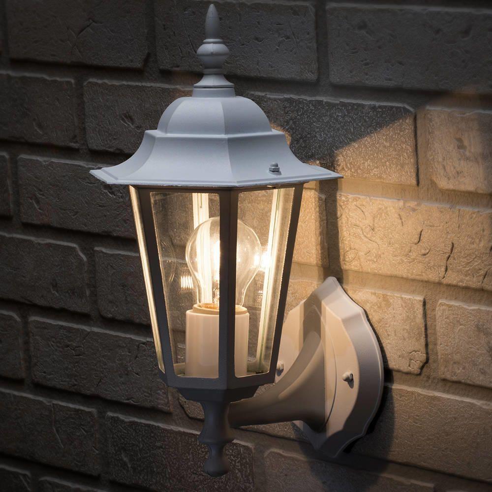 Arun 1 Light Outdoor Wall Light - White from Litecraft