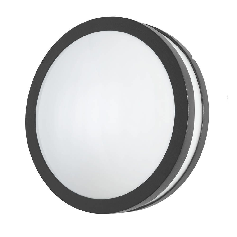 Hull LED Outdoor Light  Round Bulkhead  Grey