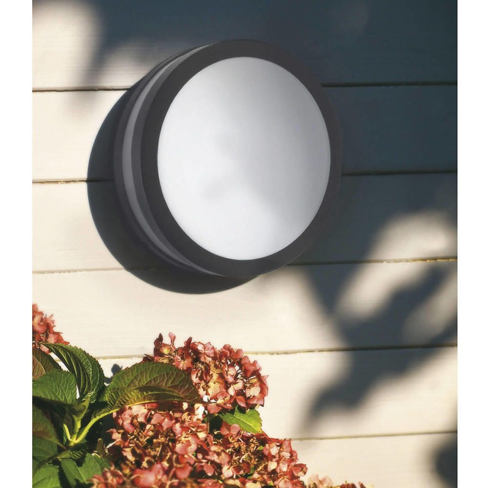 Hull Led Outdoor Light Round Bulkhead Grey From Litecraft