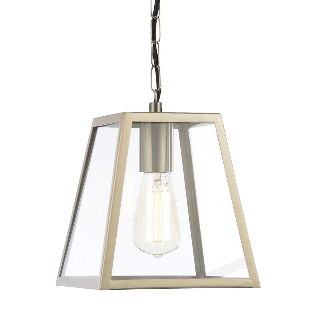 Rockford Outdoor 1 Light Tapered Square Hanging Lantern  Stainless Steel